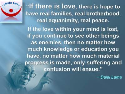 Dalai Lama On Love Quotes At Inhale Love